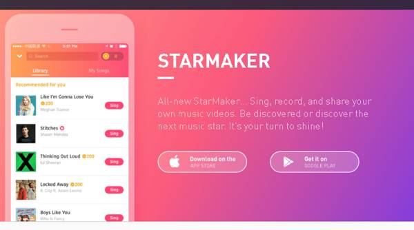 StarMaker 2021, Song Party version 7.9.0.