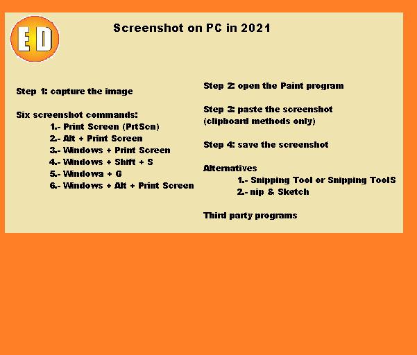 Screenshot on PC in 2021